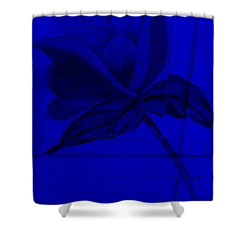Flowers Shower Curtain featuring the photograph Blue Wood Flower by Rob Hans