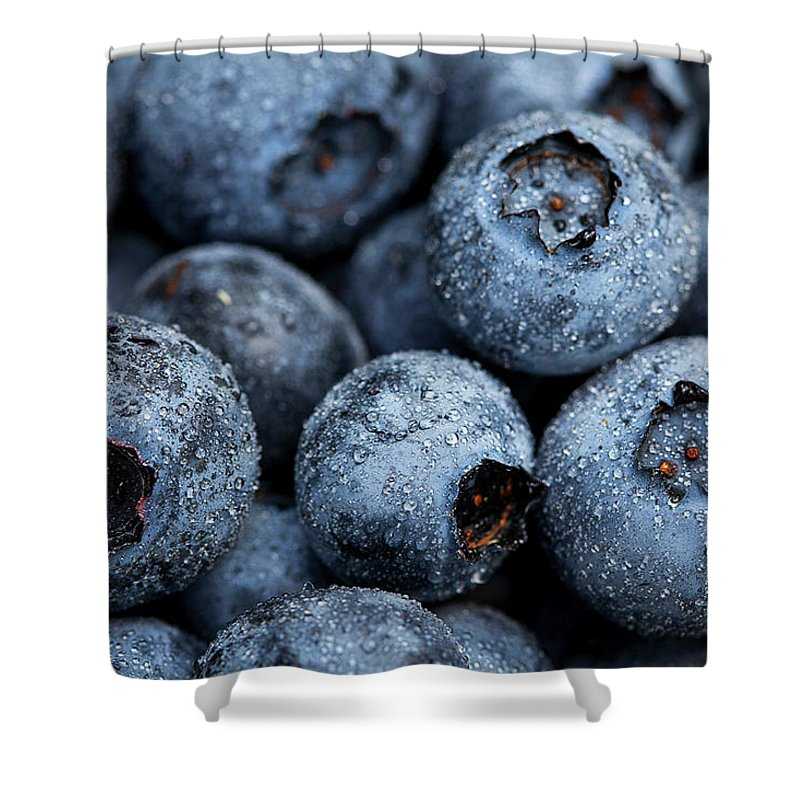 Surrey Shower Curtain featuring the photograph Blueberries Fruits by Kevin Van Der Leek Photography