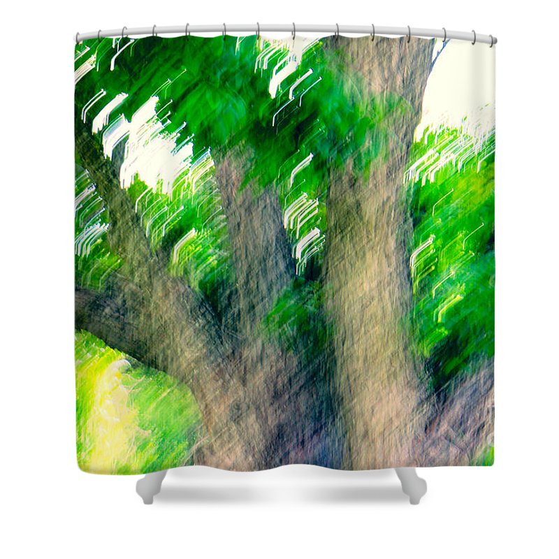 Blurred Shower Curtain featuring the photograph Blurred Pecan by Gary Richards