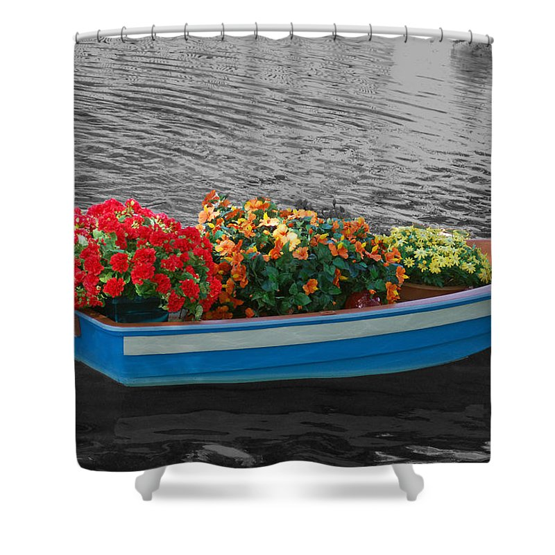 Boat Shower Curtain featuring the photograph Boat Parade by Aimee L Maher ALM GALLERY