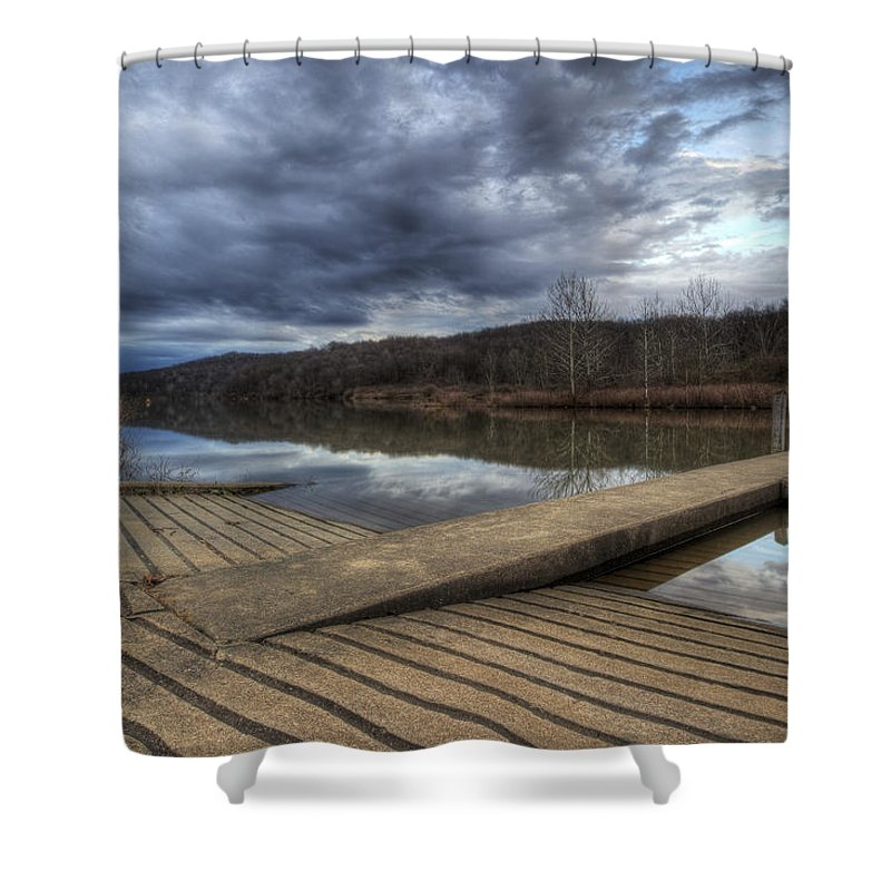 Boat Shower Curtain featuring the photograph Boat Ramp by David Dufresne