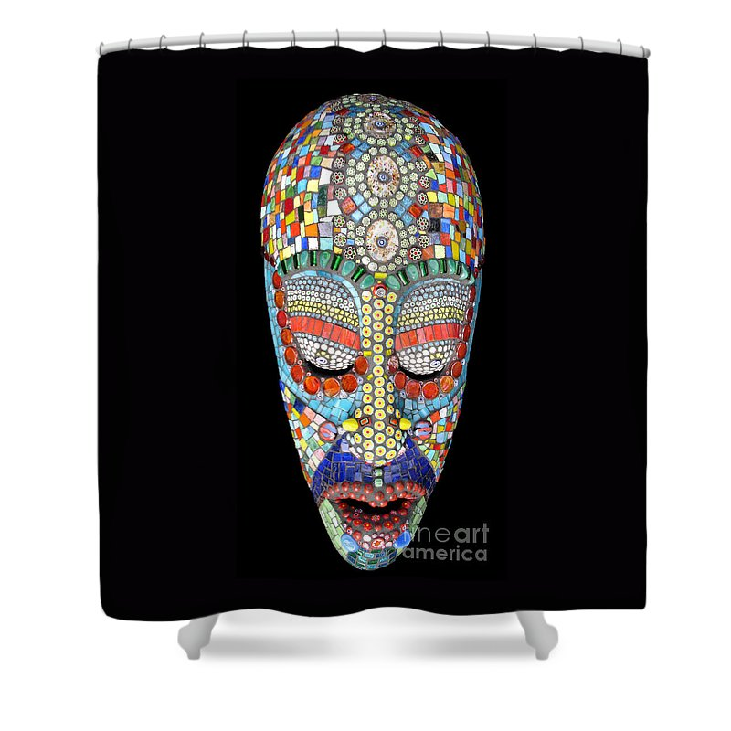 African Shower Curtain featuring the photograph Bob Why The Long Face by Valerie Fuqua