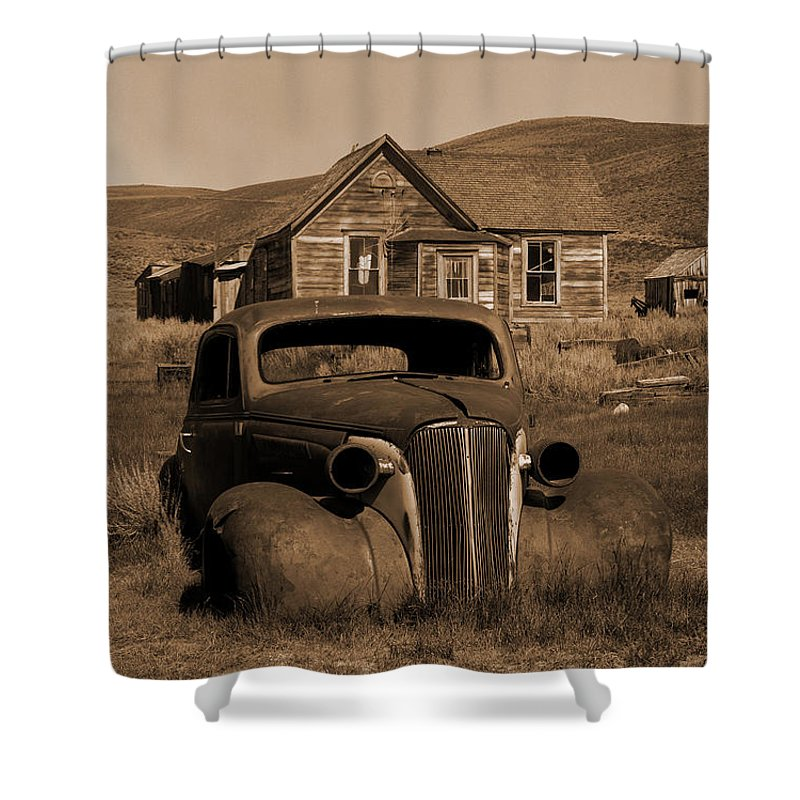 Car Shower Curtain featuring the photograph Bodie  #72986 by J L Woody Wooden