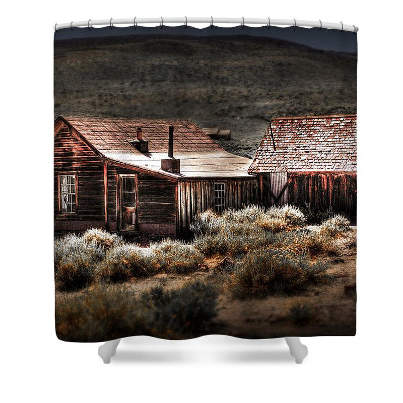 Bodie House Shower Curtain featuring the photograph Bodie House by Chris Brannen