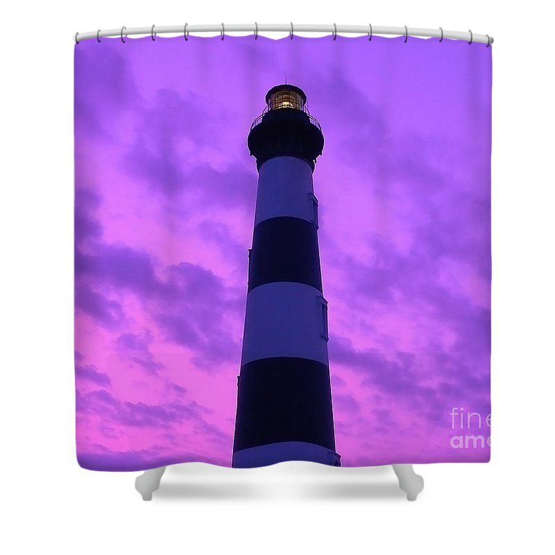 Bodie Lighthouse Shower Curtain featuring the photograph Bodie Beacon by Al Powell Photography USA