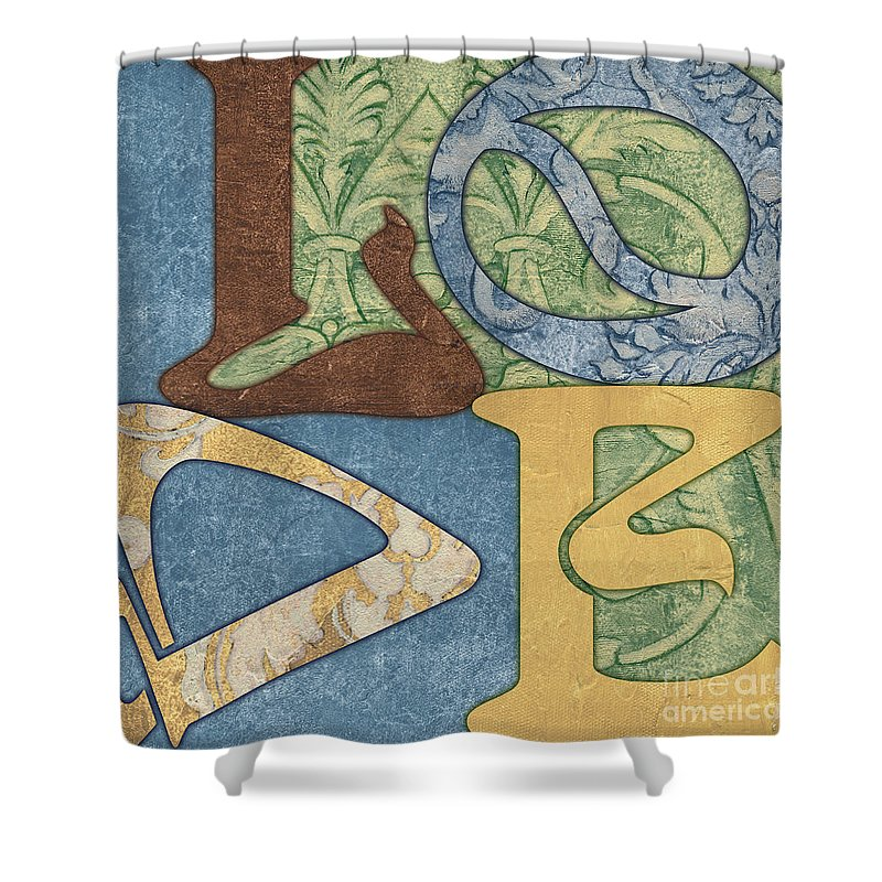 Love Shower Curtain featuring the painting Bohemian Love by Debbie DeWitt