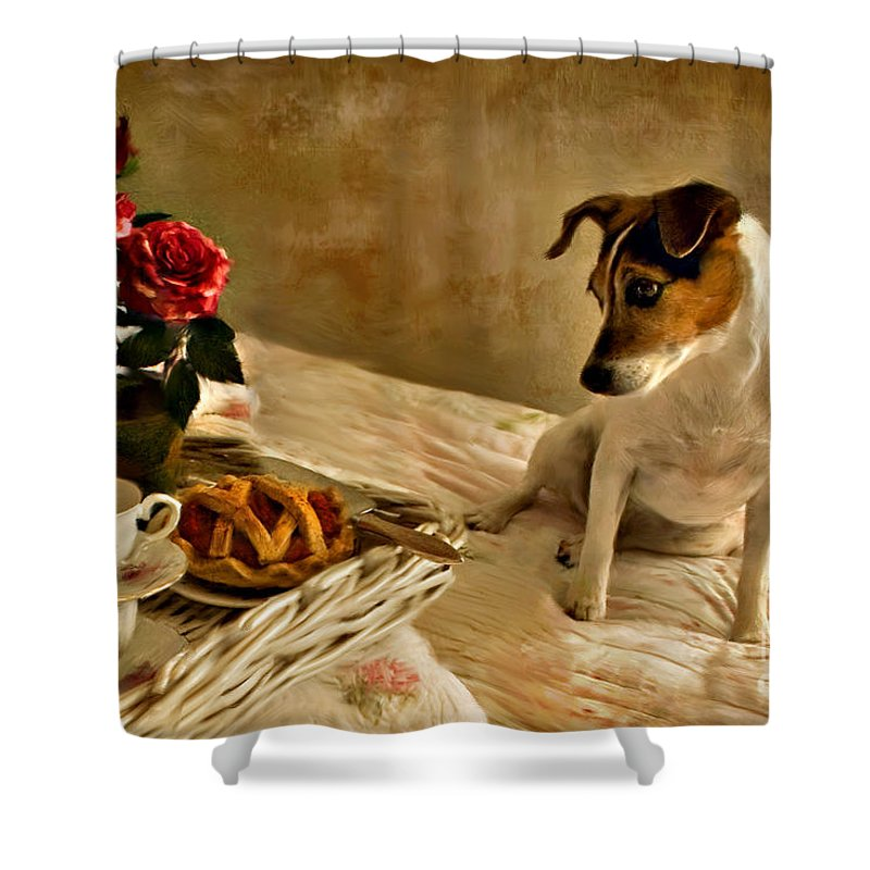 Shower Curtain featuring the photograph Bon Appetit by Jean Hildebrant