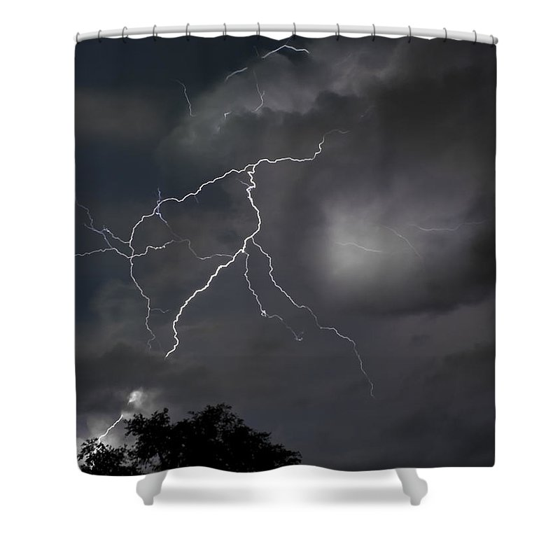 Storm Shower Curtain featuring the photograph Bon Secour Bayou by J L Woody Wooden