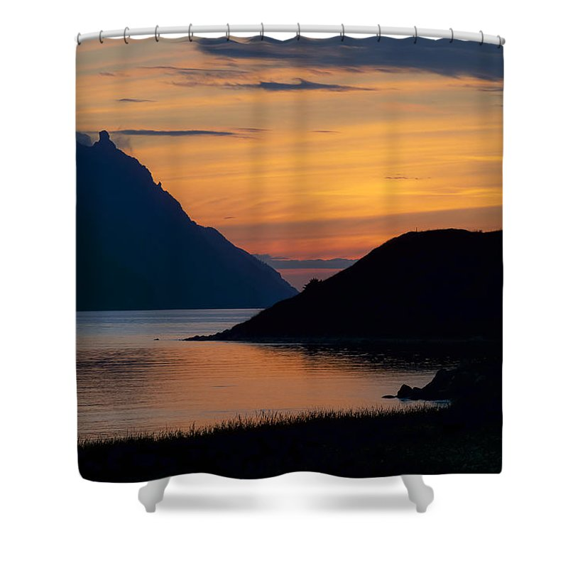 Newfoundland Shower Curtain featuring the photograph Bonne Bay Sunset by David Stone