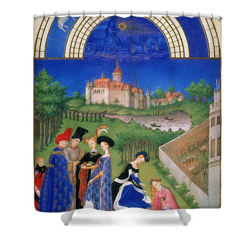 15th Century Shower Curtain featuring the photograph Book Of Hours: April by Granger