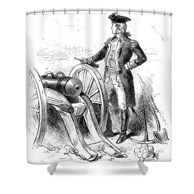 1776 Shower Curtain featuring the photograph Boston: British Evacuation by Granger