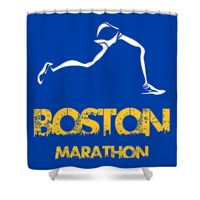 Chicago Marathon Shower Curtains