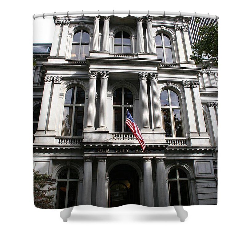 Boston Shower Curtain featuring the photograph Boston Old City Hall by Christiane Schulze Art And Photography