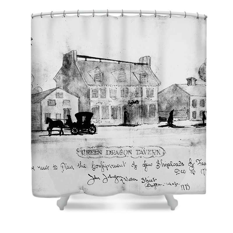 1773 Shower Curtain featuring the photograph Boston: Tavern, 1773 by Granger