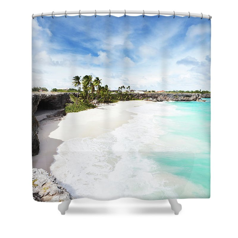 Scenics Shower Curtain featuring the photograph Bottom Bay, Barbados by Tomml