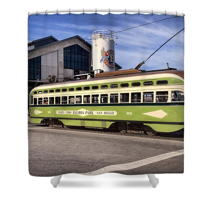San Francisco Shower Curtain featuring the photograph Boudins by Diana Powell