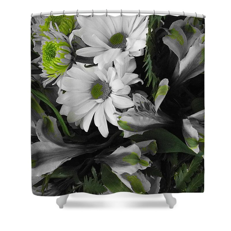 Daisy Shower Curtain featuring the photograph Bouquet by Stefanie Beauregard