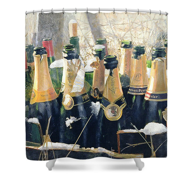 Champers Shower Curtains