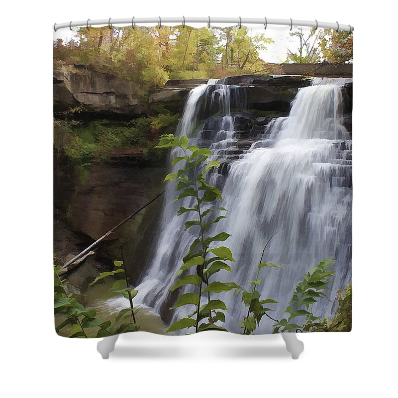 Cvnp Shower Curtain featuring the photograph Brandywine Falls by Jack R Perry