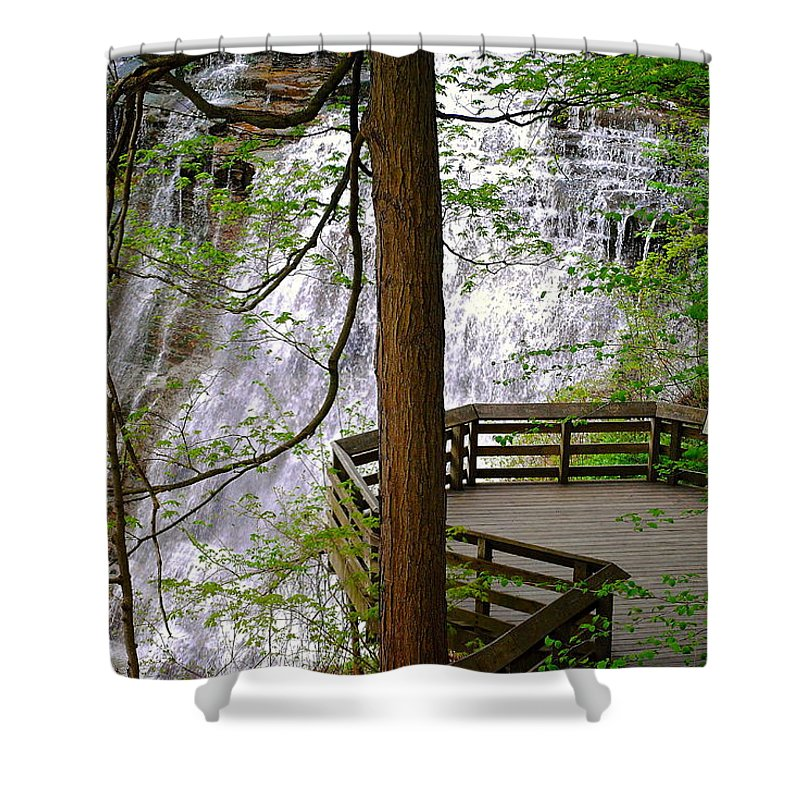 Waterfall Shower Curtain featuring the photograph Brandywine Falls by Frozen in Time Fine Art Photography