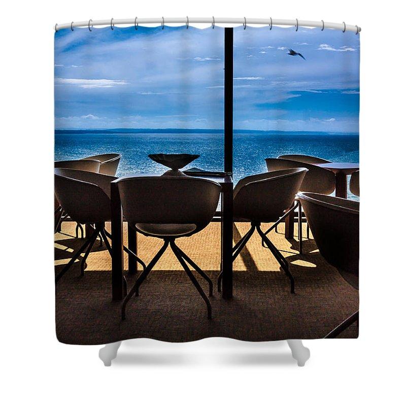 Break Shower Curtain featuring the photograph Break Coffee by Edgar Laureano