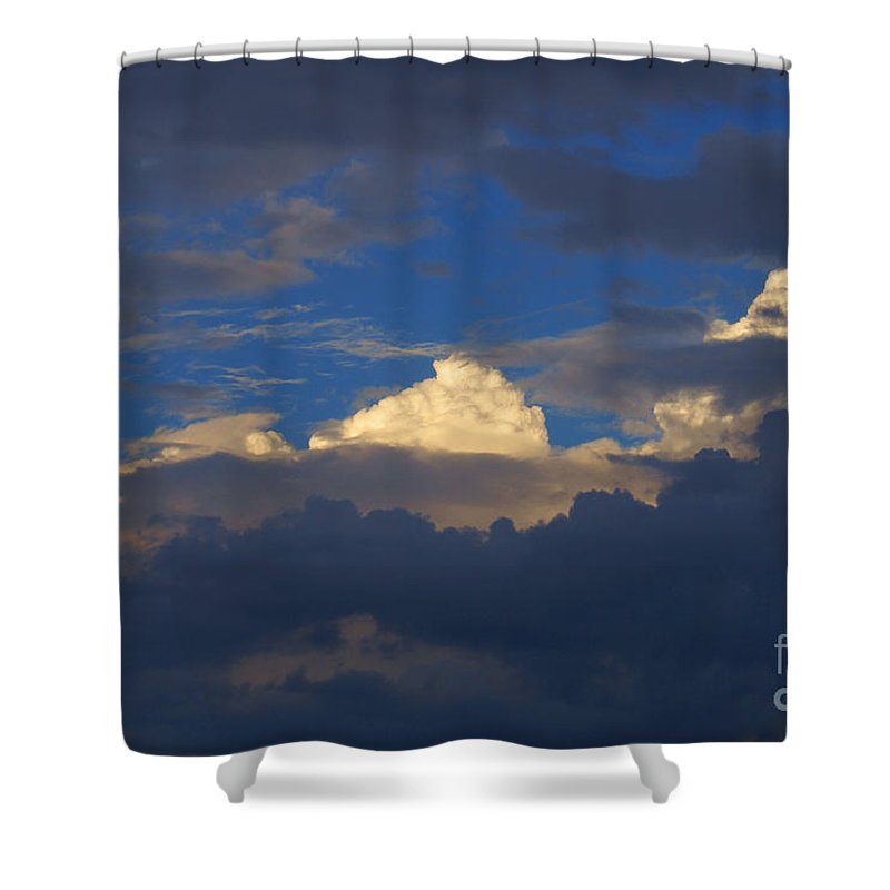 Clouds Shower Curtain featuring the photograph Break In The Clouds by Robert Edgar