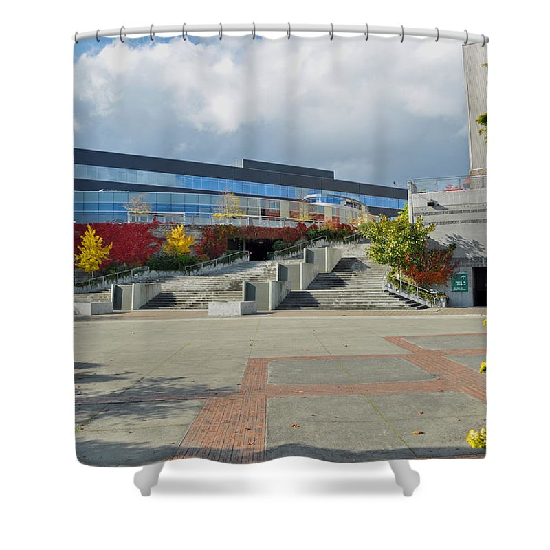 City Shower Curtain featuring the photograph Bremerton Conference Center by Tikvah's Hope