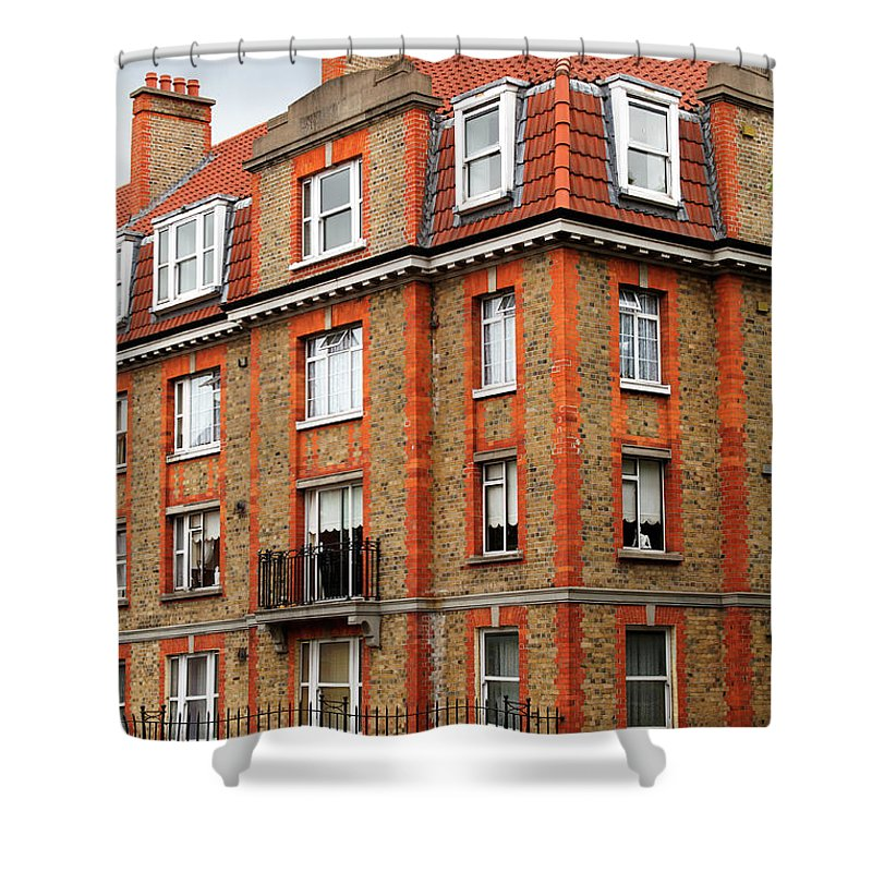 Dublin Shower Curtain featuring the photograph Brick Building In Dublin by Mammuth