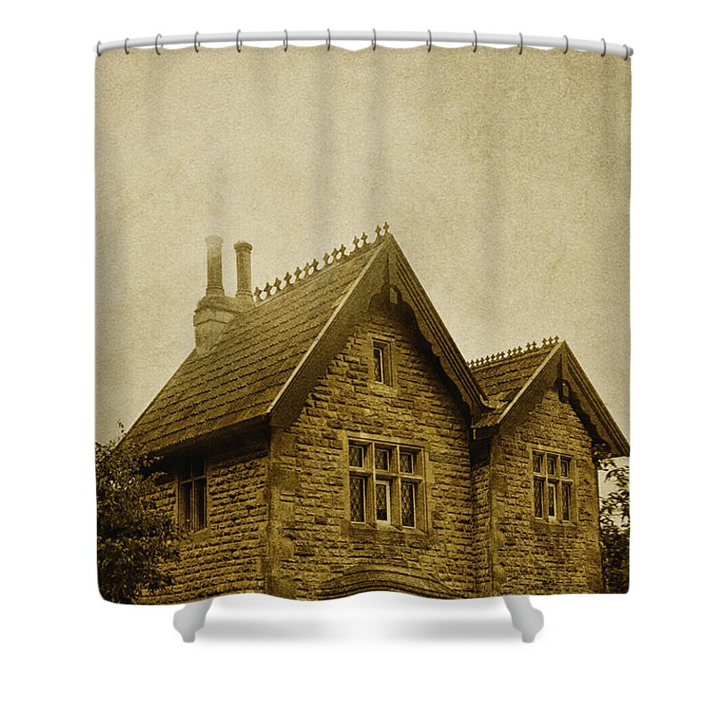 Roof Shower Curtain featuring the photograph Brick House by Margie Hurwich