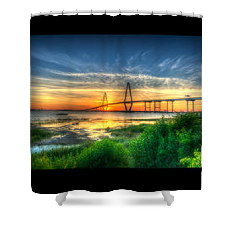 � Dale Powell Photography Shower Curtain featuring the photograph Bridge 3 by Dale Powell