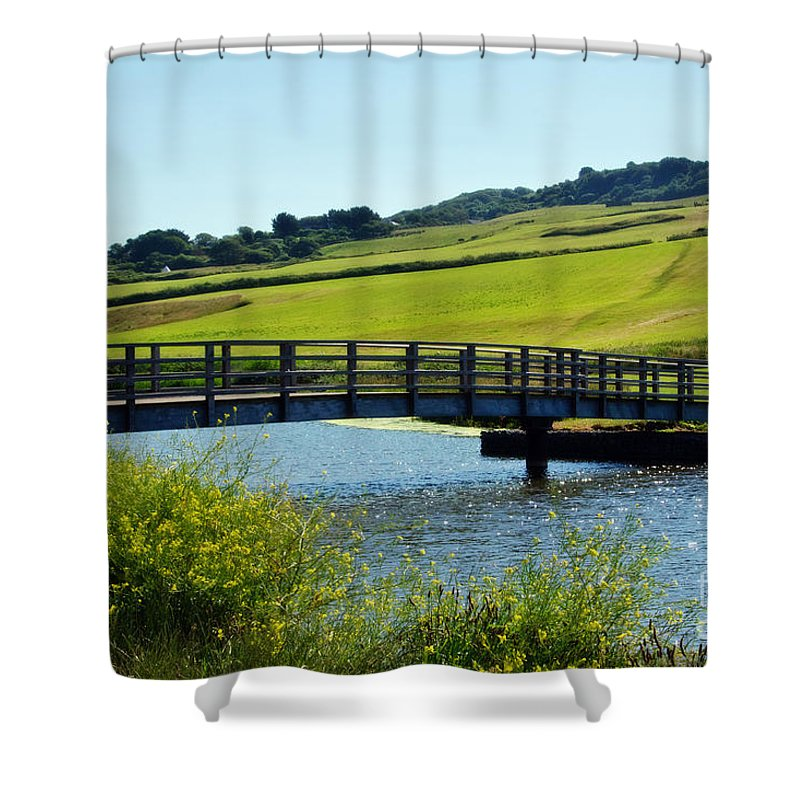 Charmouth Shower Curtain featuring the photograph Bridge At Charmouth by Susie Peek