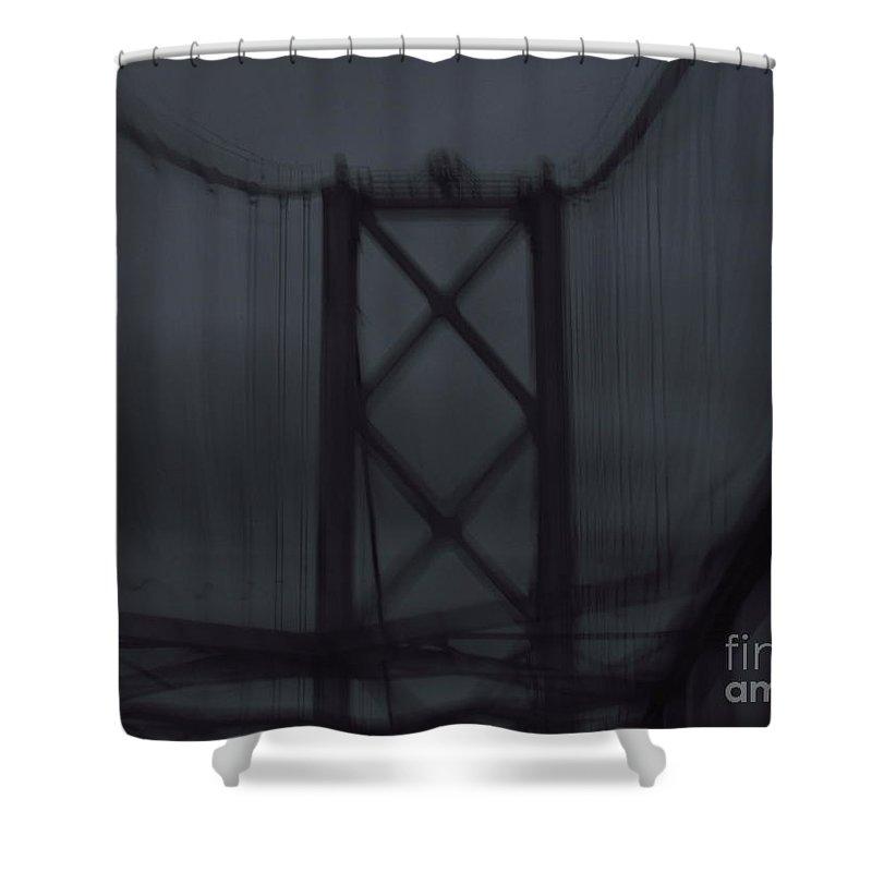 Bridge Shower Curtain featuring the digital art Bridge Of Dreams by Rrrose Pix