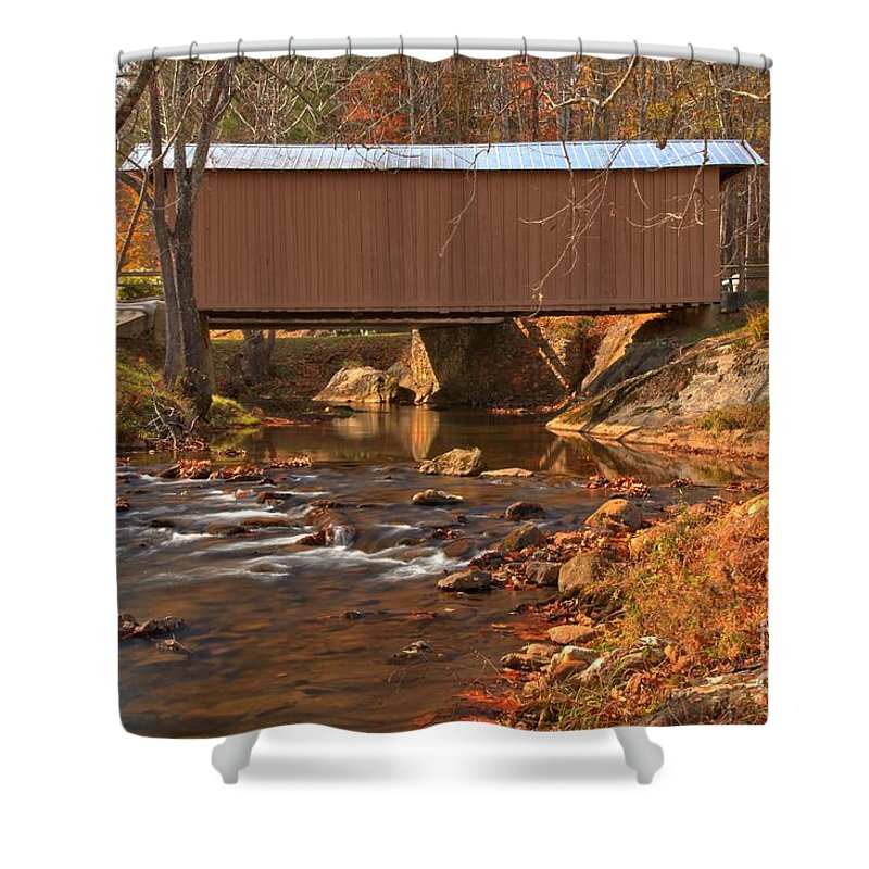 Smith River Shower Curtain featuring the photograph Bridge Over Smith River by Adam Jewell