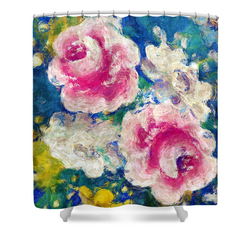 Floral Shower Curtain featuring the photograph Brightly Floral by Susan Leggett