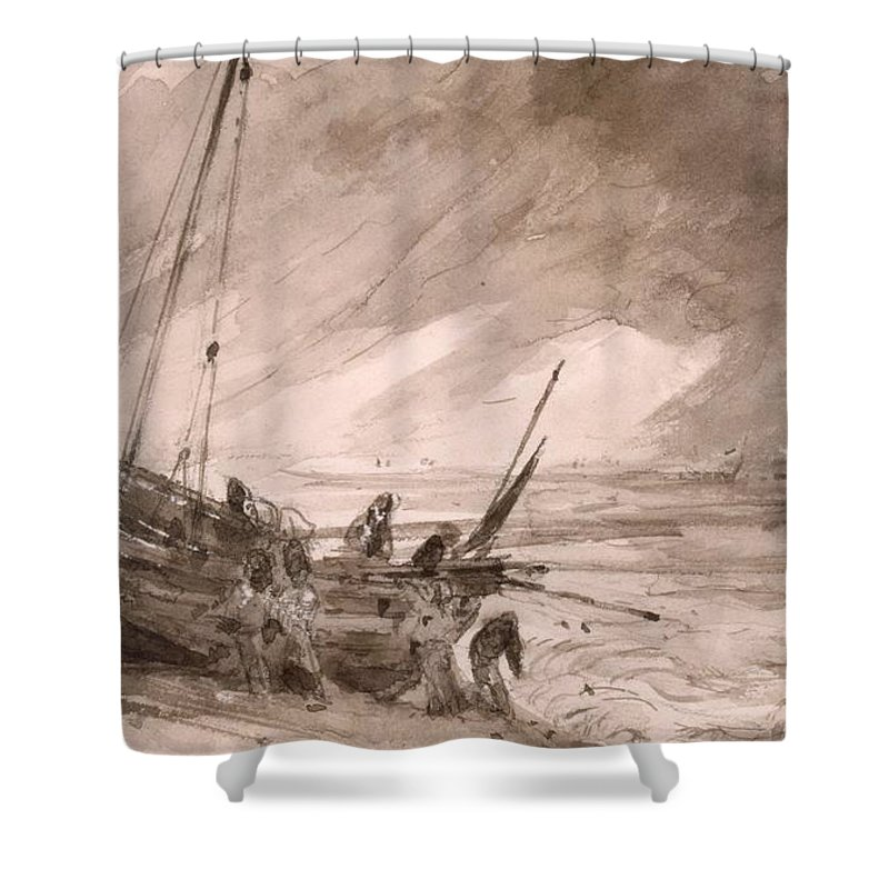 Brighton Drawings Shower Curtains