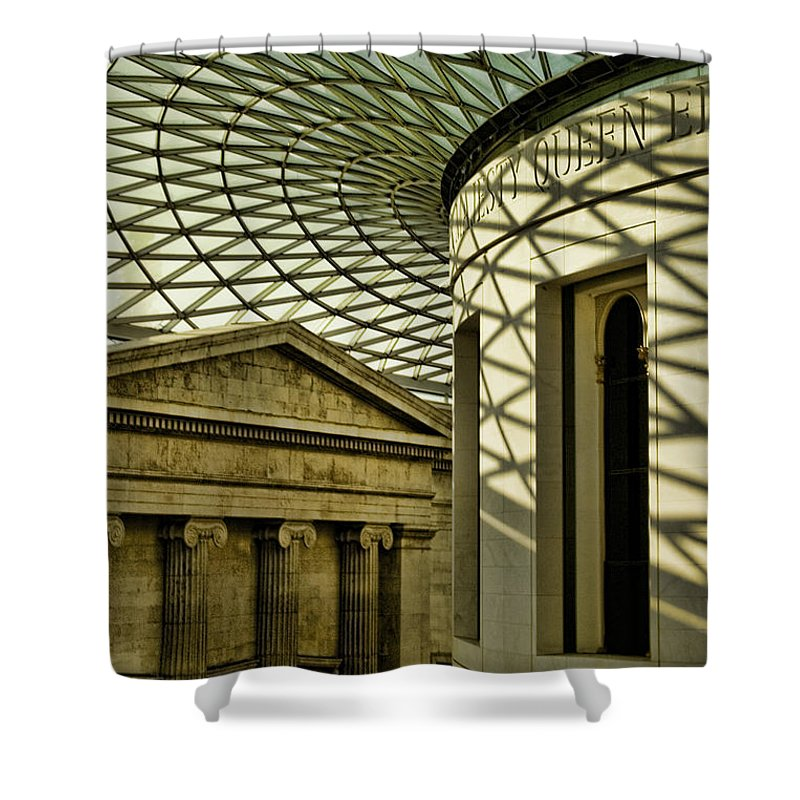 British Museum Shower Curtain featuring the photograph British Museum by Heather Applegate