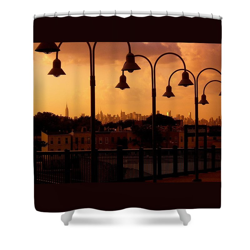 Iphone Cover Cases Shower Curtain featuring the photograph Broadway Junction In Brooklyn, New York by Monique's Fine Art