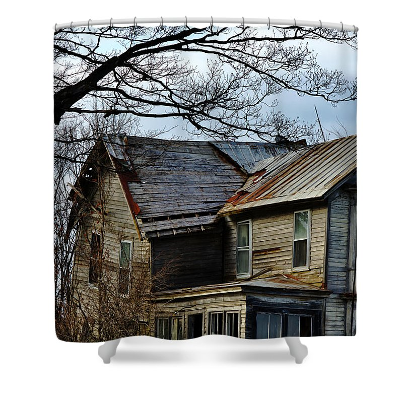 House Shower Curtain featuring the photograph Broken Home by Dennis Comins