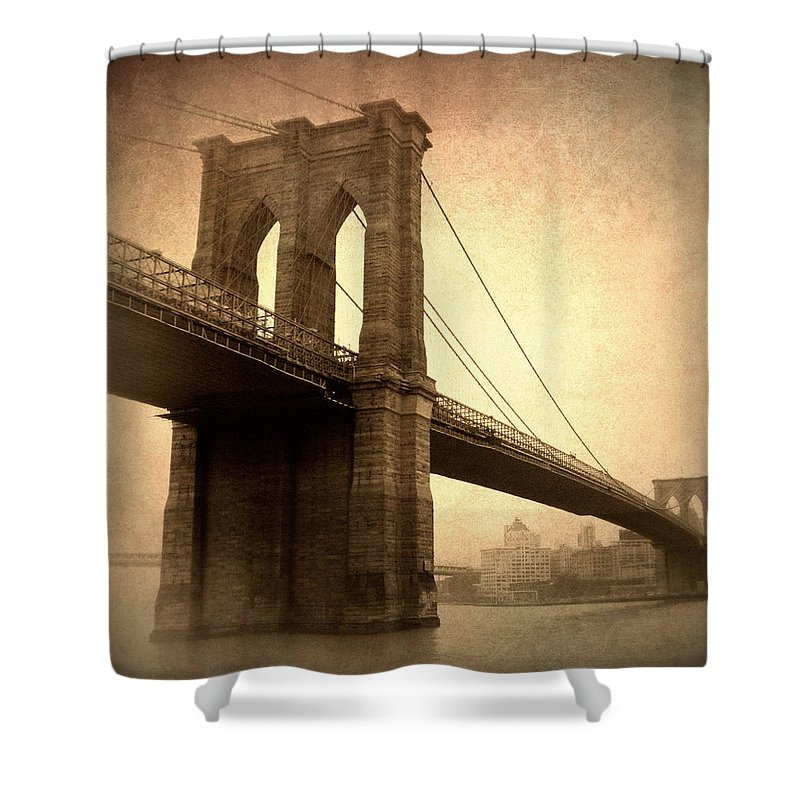 Bridge Shower Curtain featuring the photograph Brooklyn Nostalgia II by Jessica Jenney