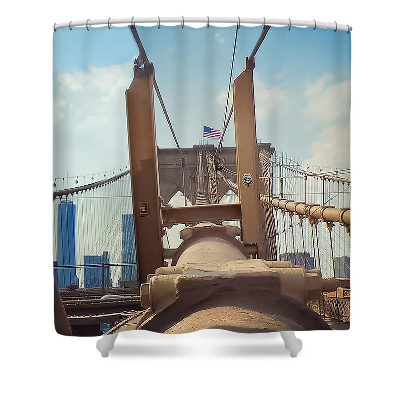 Brooklyn Shower Curtain featuring the photograph Brookyln Perspective by Charlie Cliques