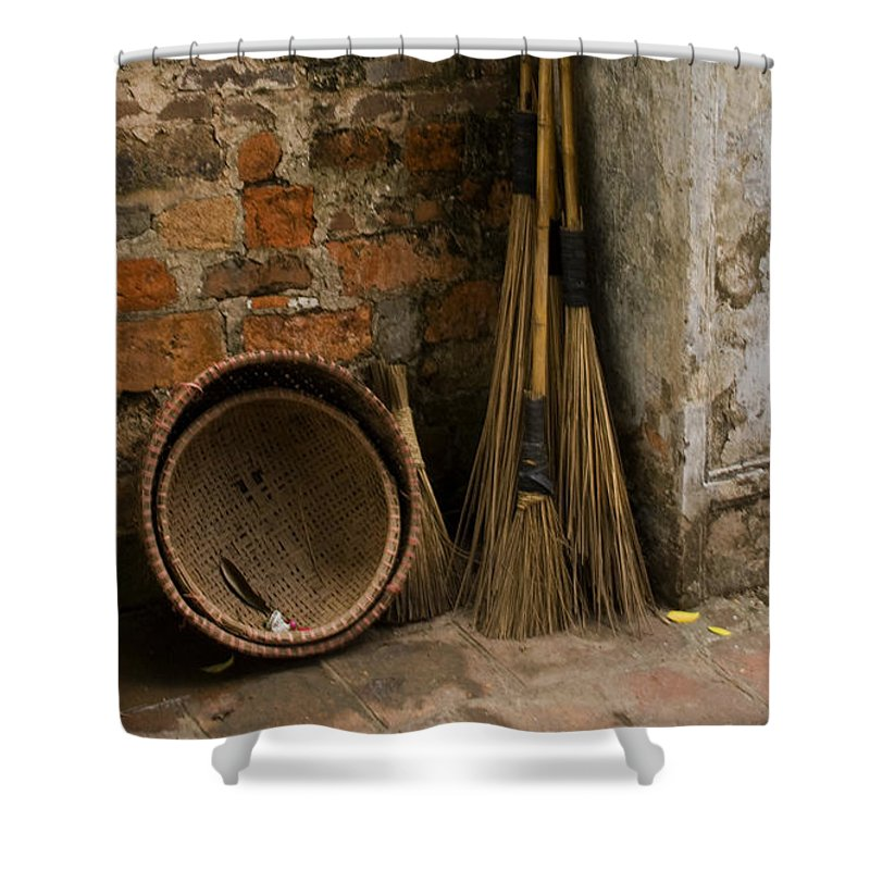 Brooms And Baskets Shower Curtain featuring the photograph Brooms  #0112 by J L Woody Wooden
