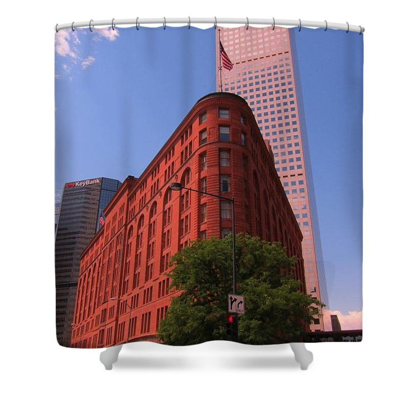Brown Palace Hotel Shower Curtain featuring the photograph Brown Palace Hotel In Denver Colorado by John Malone