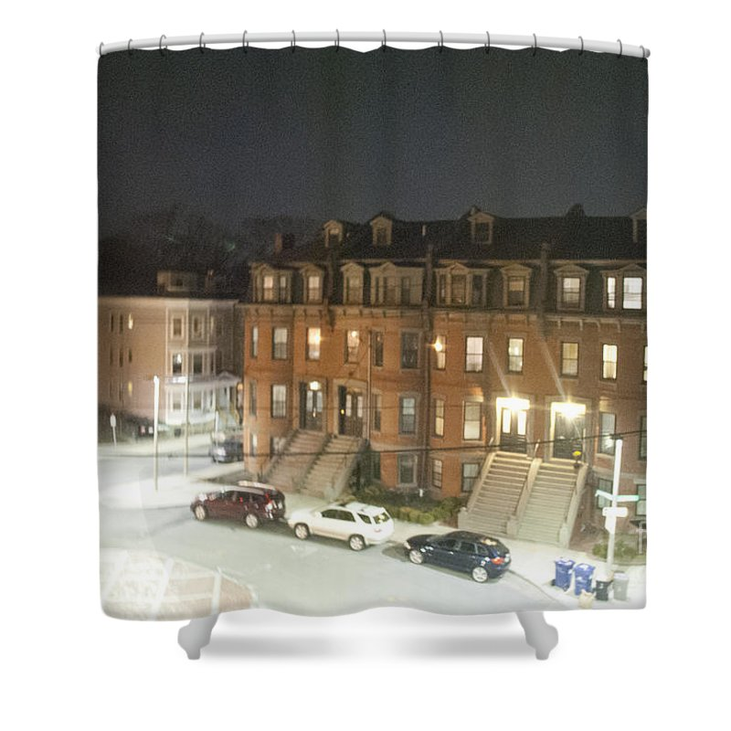 Brownstone Shower Curtain featuring the photograph Brownstone by Taylor Webb