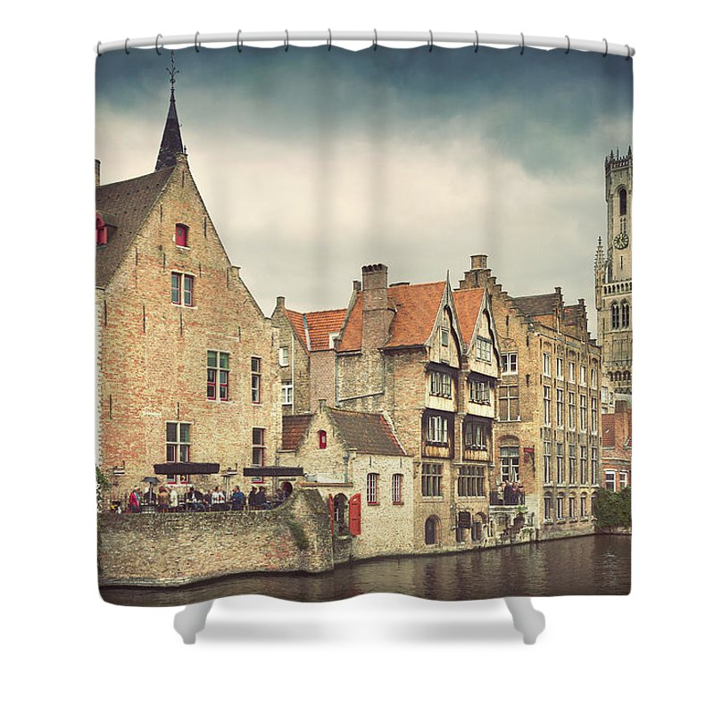 Tranquility Shower Curtain featuring the photograph Brugge by Ellen Van Bodegom