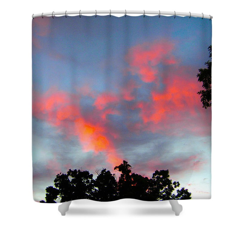 Sky Shower Curtain featuring the photograph Brush Strokes by Zafer Gurel