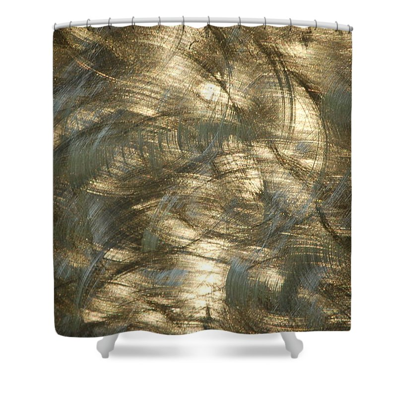 Linda Brody Shower Curtain featuring the photograph Brushed Metal by Linda Brody