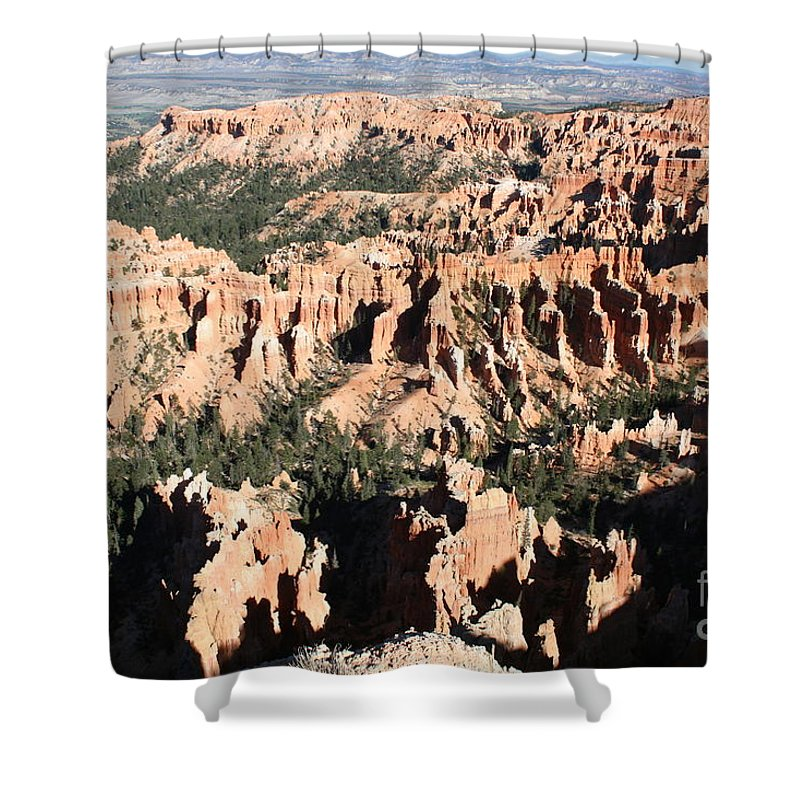 Canyon Shower Curtain featuring the photograph Bryce Canyon Hoodoos And Fins by Christiane Schulze Art And Photography