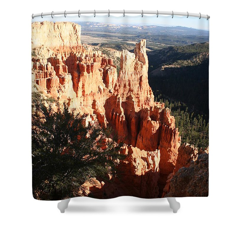 Canyon Shower Curtain featuring the photograph Bryce Canyon Landscape by Christiane Schulze Art And Photography