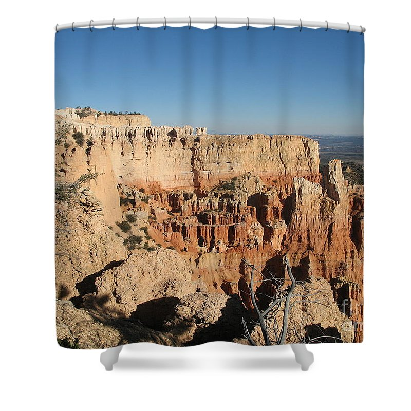 Rocks Shower Curtain featuring the photograph Bryce Canyon Scenic View by Christiane Schulze Art And Photography
