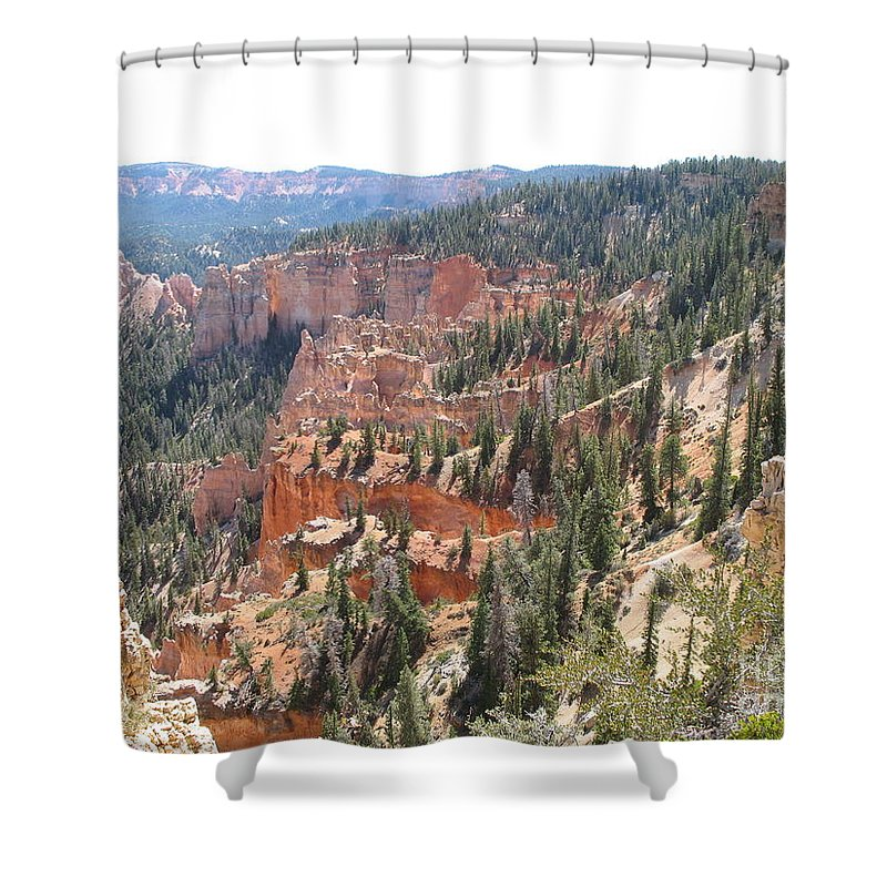 Rocks Shower Curtain featuring the photograph Bryce Canyon View by Christiane Schulze Art And Photography